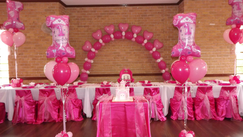 1st Birthday Princess Floor Balloon Bouquets For Cake