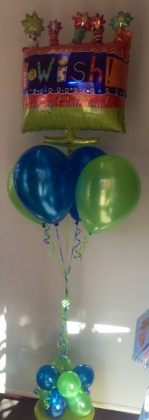 Make A Wish Birthday Balloon Bouquet