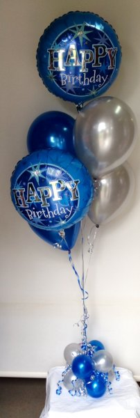 Table Balloon Bouquet 2 Foils Happy Birthday