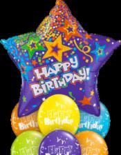 Star Birthday balloon bouquet