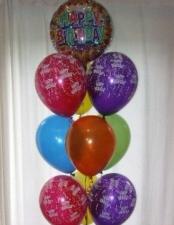 Standard Bouquet 10 balloons (1 foil)