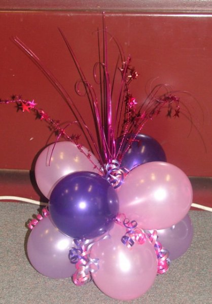 Balloon centrepieces party favors ideas