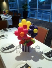 Flower box table centrepiece
