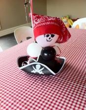 Pirates table centrepiece