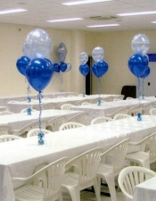 3 balloon table bouquets