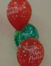 3 balloon Merry Christmas bouquet