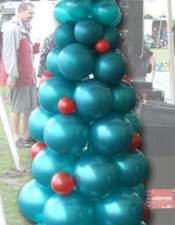 2m teal and red christmas tree