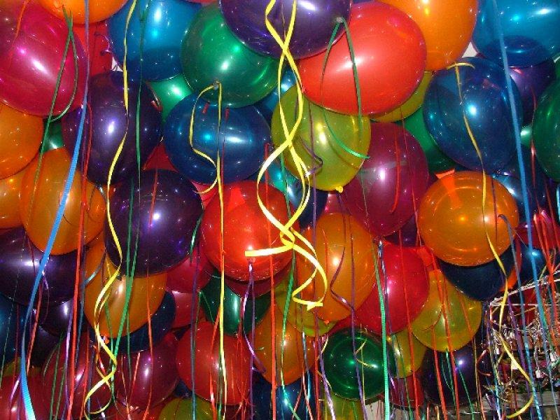 Floating Jewel Tone Balloons