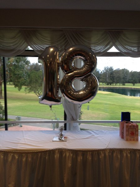 Number Balloons Weighted For Cake Table