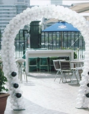 white black arch