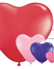 heart balloons latex