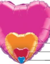 heart balloons foil