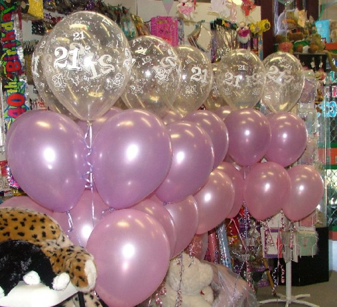 21 Pink And Purple 6 Balloons