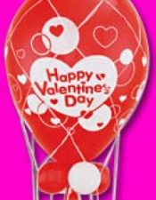 Happy Valentines Day Mini Hot Air Balloon - $45