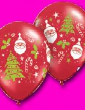 Santas and trees