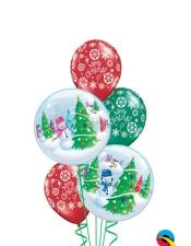Snowman bubbles
