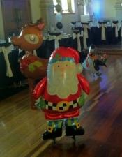 Airwalkers. Santa, Reindeer, penguin