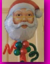 Santas head foil arrangement