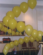 Twisted balloons display