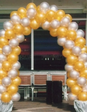 gold silver arch
