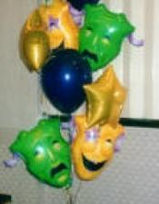 theatre masks bouquets