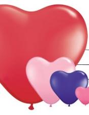 heart balloons latex
