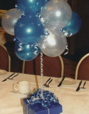 Standard Topiary Silver + Sapphire Blue