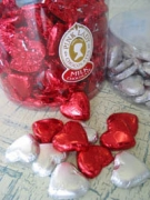 Heart Chocolate Gems - $7.50 per a gift bag of 12