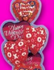 Valentines Hugs And Kisses Bouquet - $80